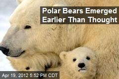 Polar Bears Emerged Earlier Than Thought