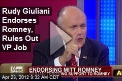 Rudy Giuliani Endorses Romney, Rules Out VP Job