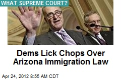 Dems Lick Chops Over Arizona Immigration Law