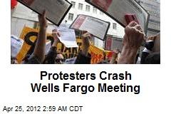 Protesters Crash Wells Fargo Meeting