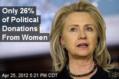 Only 26% of Political Donations From Women