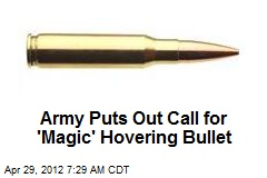 Army Puts Out Call for 'Magic' Hovering Bullet