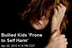 Bullied Kids 'Prone to Self Harm'