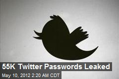 55K Twitter Passwords Leaked