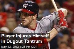 Player Injures Himself in Dugout Tantrum