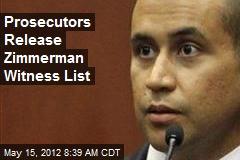Prosecutors Release Zimmerman Witness List