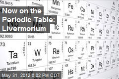 Now on the Periodic Table: Livermorium