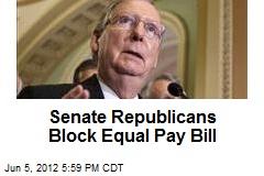 Senate Republicans Block Equal Pay Bill