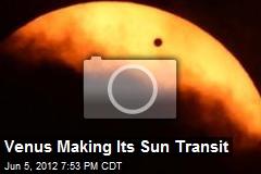 Venus Making Its Sun Transit