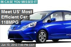 Meet US' Most Efficient Car: 118MPG