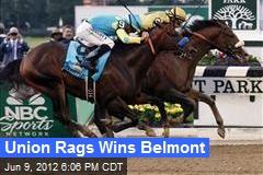 Union Rags Wins Belmont