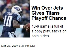 Win Over Jets Gives Titans Playoff Chance