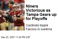 Niners Victorious as Tampa Gears up for Playoffs