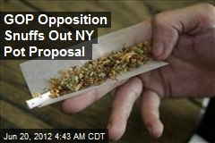GOP Opposition Snuffs Out NY Pot Proposal