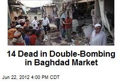 14 Dead in Double-Bombing in Baghdad Market