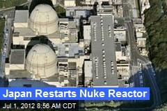 Japan Restarts Nuke Reactor