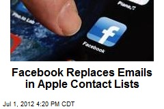 Facebook Replaces Emails in Contact Lists