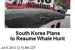 South Korea Plans to Resume Whale Hunt