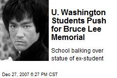 U. Washington Students Push for Bruce Lee Memorial
