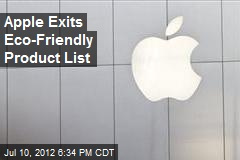 Apple Exits Eco-Friendly Product List