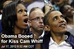 Obama Booed for Kiss Cam Whiff