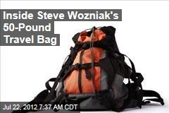 Inside Steve Wozniak's 50-Pound Travel Bag