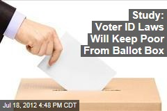 Study: Voter ID Laws Will Keep Poor From Ballot Box