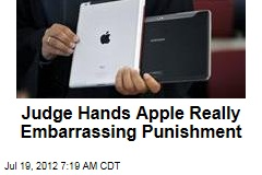 Judge Hands Apple Really Embarrassing Punishment