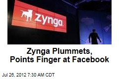 Zynga Plummets, Points Finger at Facebook