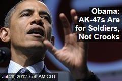 Obama: Let's Find Consensus on Gun Control