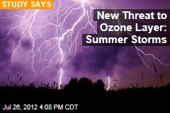 New Threat to Ozone Layer: Summer Storms