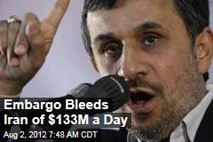Embargo Bleeds Iran of $133M a Day