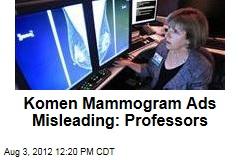 Komen Mammogram Ads Misleading: Professors