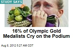 16% of Olympic Gold Medalists Cry on the Podium