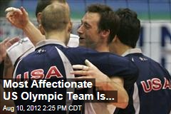 Most Affectionate US Olympic Team Is...