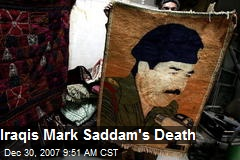 Iraqis Mark Saddam's Death
