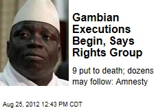 Gambian Executions Begin, Says Rights Group