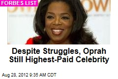 Despite Struggles, Oprah Still Highest-Paid Celebrity