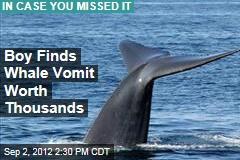 Boy Finds Whale Vomit Worth Thousands