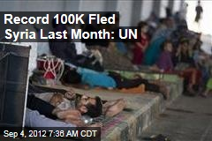 Syria Refugees Hit Record 100K Last Month: UN