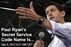 Paul Ryan's Secret Service Codename Is...