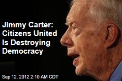 Carter: Money Is Destroying US Democracy