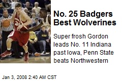 No. 25 Badgers Best Wolverines