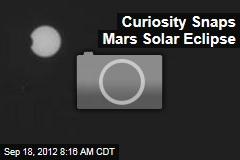 Curiosity Snaps Mars Solar Eclipse