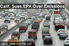 Calif. Sues EPA Over Emissions