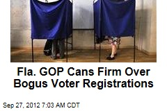 Fla. GOP Cans Firm Over Bogus Voter Registrations