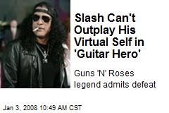 Slash Can't Outplay His Virtual Self in 'Guitar Hero'