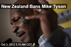 New Zealand Bans Mike Tyson
