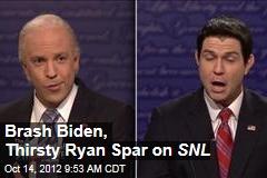 Brash Biden, Thirsty Ryan Spar on SNL
