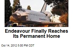 Endeavour Finally Reaches Its Permanent Home